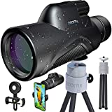 Stellax, ZoomX Monocular Compact Upgraded 2020 Waterproof/Fogproof - BAK4 Prism, FMC Lenses Covering with Tripod and Smartphone Adapter