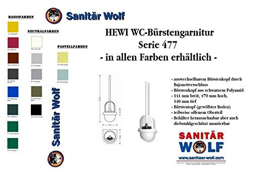 Hewi Heinrich Wilke 477.20.100 90 WC-Bürstengarnitur Serie 477 Behälter aus Polyamid, Farbe schwarz