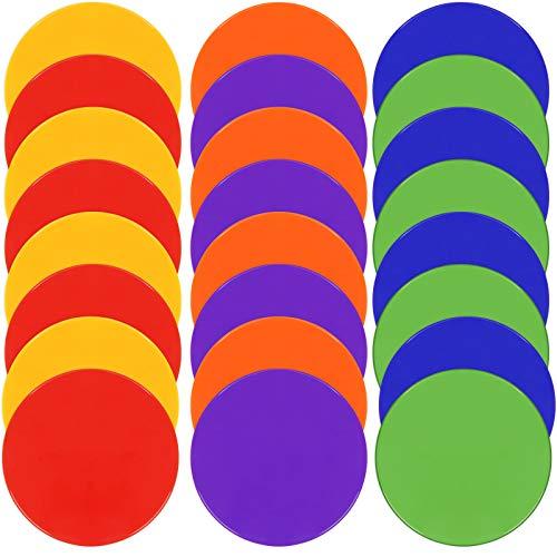 TuXHui 24 marcadores de puntos, de goma de 22,8 cm, antideslizantes, de agilidad, conos planos para fútbol, fútbol, baloncesto, deportes, velocidad y entrenamiento de agilidad