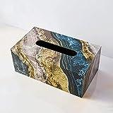 XBSXP Caja de Soporte de Papel de Seda Rectangular, Caja, servilletero, Espejo acrílico, dispensador de toallitas de Papel...