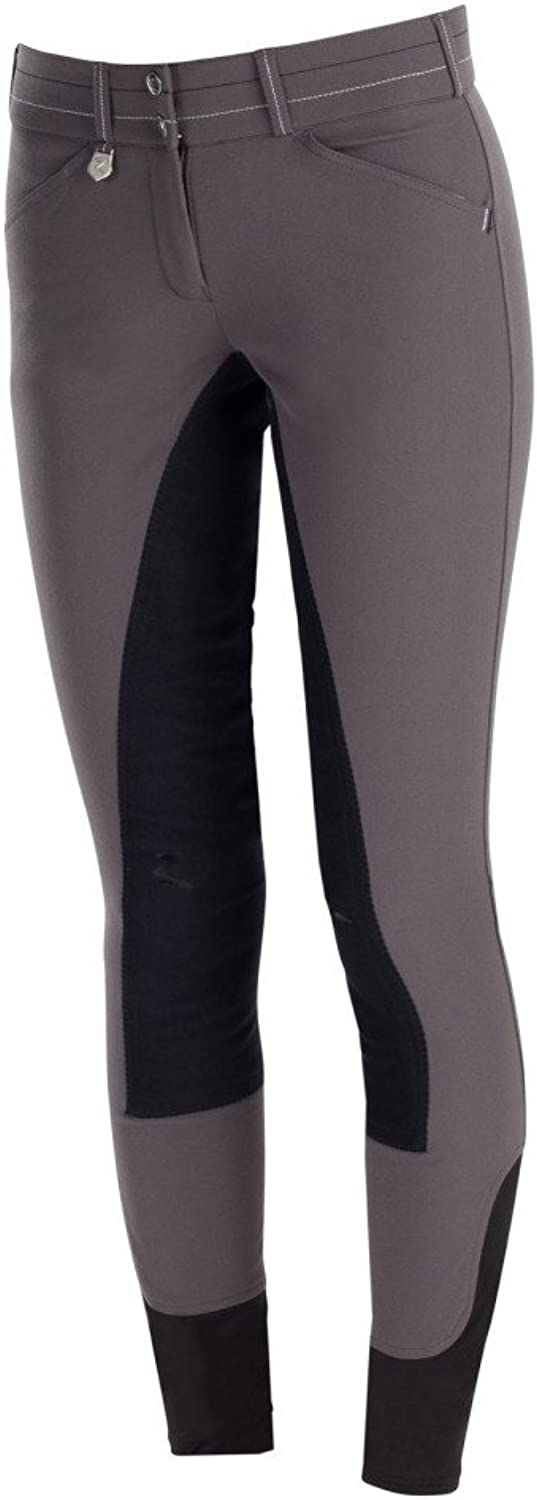 Horze Supreme Grand Prix Women's Fullseat Breeches with Special Stitches  Paloma Grey Black Size  44