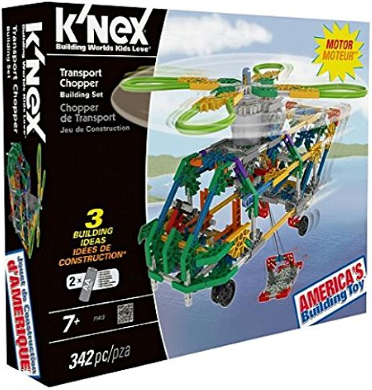 K'NEX Use this 341 piece kit to make three unique flight designs Transport Chopper.