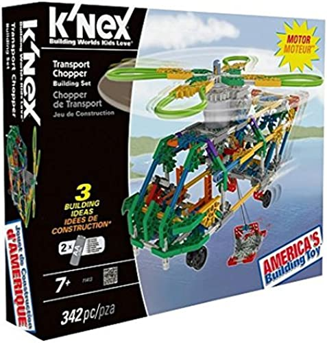 K'NEX Use this 341 piece kit to make three unique flight designs Transport Chopper.