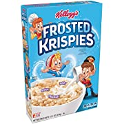 (Discontinued Version) Kellogg's Frosted Krispies, Breakfast Cereal, Toasted Rice Cereal, Fat-Free, 12.5 oz Box