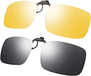LR Polarized Mens Classic Trendy Stylish Sunglasses UV400 Clip-on Over Precription Glasses NCS004