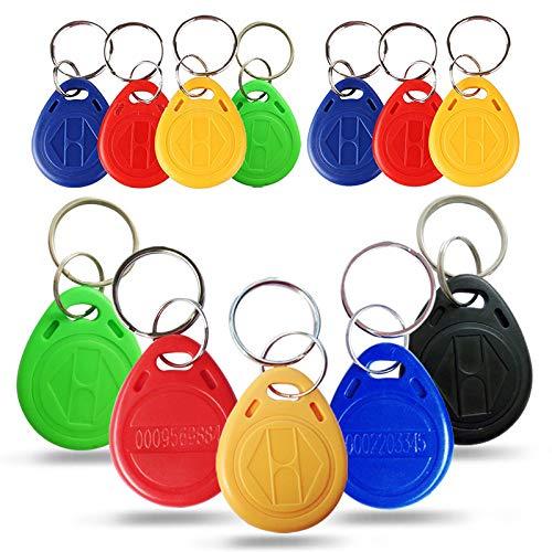 XVCHQIN Schlüsselmäppchen für 10 Stücke ID Abzeichen Schlüsselanhänger RFID Tag Tags llavero Porta Chave Karte Aufkleber Schlüsselanhänger Token Ring Nähe Chip, blau, 1 STÜCKE