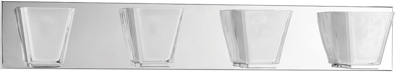 Progress Lighting P2126-15 Contemporary Modern 4-60W Kryp Bath Bracket, Polished Chrome