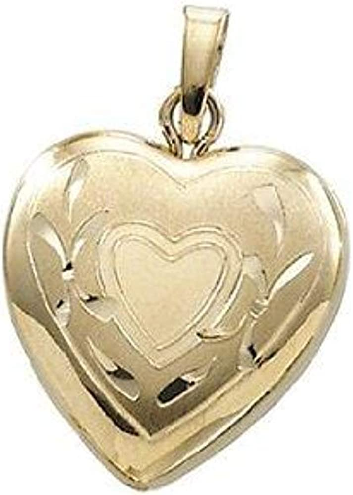 PicturesOnGold.com Solid 14K Small Yellow 1 Gold Max 79% OFF Locket Classic Heart 2