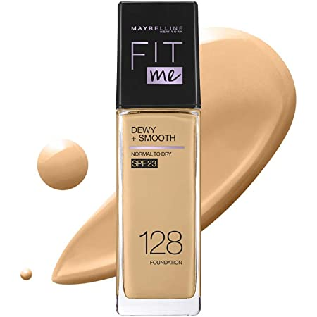 MAYBELLINE(メイベリン) フィットミー リキッド ファンデーション D ツヤ 128 標準的な肌色(イエロー系) 30 ml (x 1)