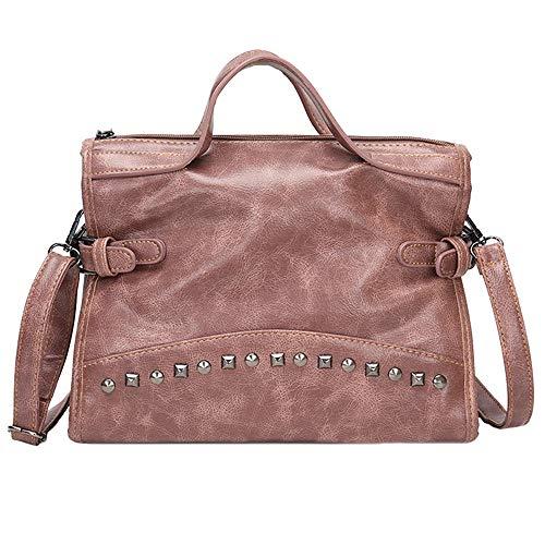 Godatila Damen Große Schultertasche - Shopper PU Leder - Schulter Crossbody Taschen - Große Kapazität Einkaufstasche - Multi Pocket Messenger Bag