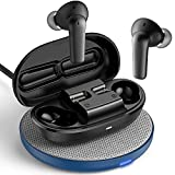 Wireless Earbuds Active Noise Cancelling, NyPots A8 ANC Bluetooth Earbuds Wireless Charging, Transparent Mode Headphones, IPX8 Waterproof Earphone, 32H Playtime Headset (Include Wireless Charger)
