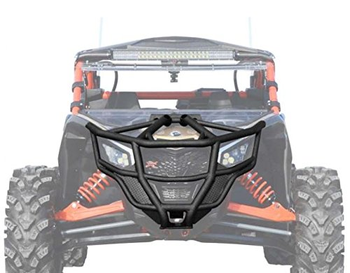 SuperATV Heavy Duty Front Bumper for Can-Am Maverick X3 (2017+) - Black