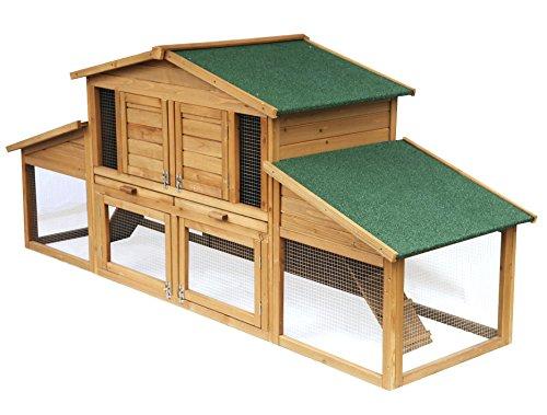 EUGAD 0033HT Gabbia per Conigli Criceto Conigliera da Esterno Giardino Casa per Piccoli Animali in Legno di Abete