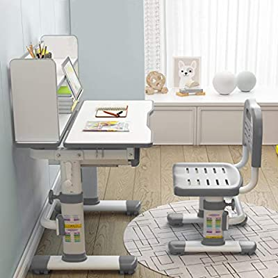 Kids Desk and Chair Set - Height Adjustable Chi...