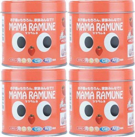 【4個セット】ママラムネ(いちごミルク風味)200粒