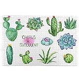 PUIO Sierra calar de 1000 Piezas,Cactus Suculentas Acuarela Clipart Set Mano,Juegos Rompecabezas imágenes para Adultos y niños Regalo graduación de Boda Familiar