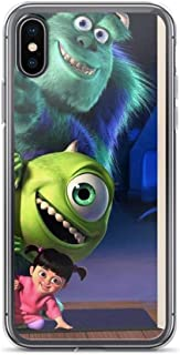 TeeTan Compatible with iPhone 7 Plus/8 Plus Case Monster Inc Sulley Mike Astros Space Fanart Pure Clear Phone Cases Cover