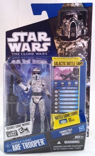 Hasbro Jungle Camo ARF Trooper (2010 Blue Card CW24 - No Secret Code)