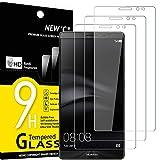 NEW'C 3 Stück, Schutzfolie Panzerglas für Huawei Ascend Mate 8, Frei von Kratzern, 9H Festigkeit, HD Bildschirmschutzfolie, 0.33mm Ultra-klar, Ultrawiderstandsfähig