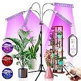 CXhome 432 LEDs Pflanzenlampe Vollspektrum Pflanzenlicht mit Stativ Grow Light für Zimmerpflanzen mit Zeitschaltuhr Wachstumslampe mit 6500K & Rot & Blau 3 Modes 4 Channel 10 Helligkeitsstufen