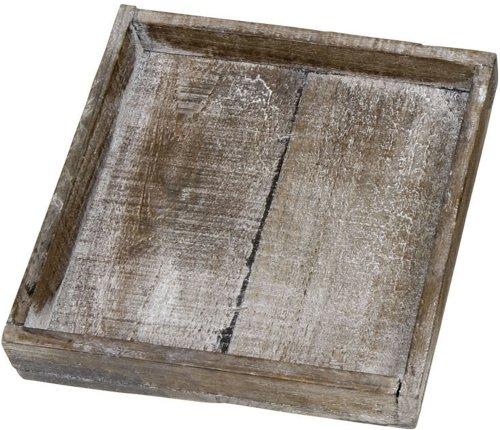 Holzteller Holztablett Tablett Wooden tray natural 20x20x4cm