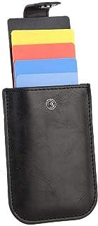 HERCHR Porte-Cartes de crédit en Cuir, étui Mince de Protection de Carte de crédit pour Hommes et Femmes, 4 x 2,8 x 0,3 po
