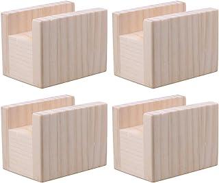 RDEXP 10x7x8.5cm Ancho de Ranura 4cm Mesa de Madera Escritorio Cama elevadora Elevación Muebles Piernas Elevadoras Pies hasta 5 cm Elevador Paquete de 4