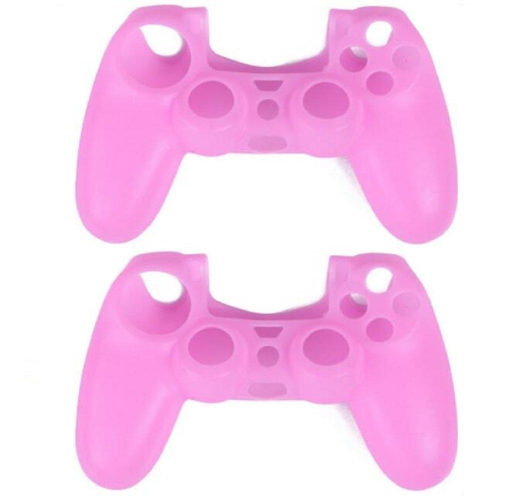 Carcasa de silicona suave para mando Sony PlayStation 4 PS4 rosa PI+PI talla única: Amazon.es: Electrónica