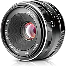 Meike 25mm F1.8 APS-C Large Aperture Wide Angle Lens Manual Focus Lens for Sony E Mount Mirrorless Cameras NEX 3 3N 5 NEX 5T NEX 5R NEX 6 7 A6400 A5000 A5100 A6000 A6100 A6300 A6500 A6600