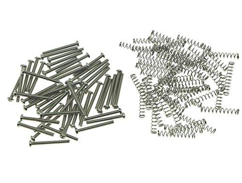 kaish 50Metrisches und USA/Imperial Gewinde Humbucker Pickup Höhe schrauben 50x Metric Thread nickel