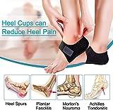 Protectores de talón,almohadillas de talón,2PCS Protectores de gel para el talón para fascitis plantar, tendinitis de Aquiles, cojín para el talón para aliviar el dolor y la presión del talón