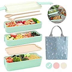 ⭐ 【REUSABLE WHEAT FIBER LUNCH BOX】 BPA-free, FDA food-grade PP plastic and wheat fiber are super healthy and built to last. It creates a safe and healthy eating environment for you and your family. The space is large enough to accommodate the food in...