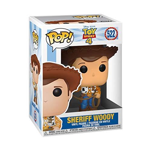 Funko- Pop Vinile: Disney: Toy Story 4: Woody Figura da Collezione, Multicolore, 37383