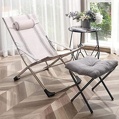 Accesorios para sala de estar Silla reclinable Plegable Zero Gravity Lounge Chair Sillas de terraza de gran tamaño para jardín Patio al aire libre Tumbonas Tumbonas reclinable con almohada para la