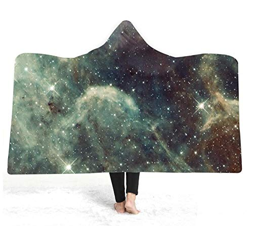KOQTO volwassen capuchon deken badjas kinderen, zachte pluche mantel sjaal deken voor het lezen spelen Studing horloge tv op bed of bank