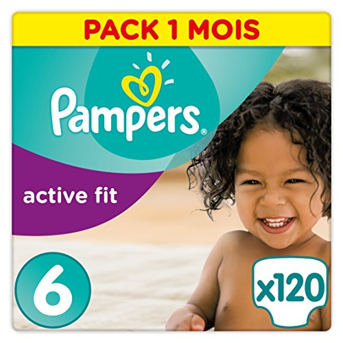 Pampers Active Fit Windeln Monatsbox, Größe 6,  15+kg, 120 Windeln
