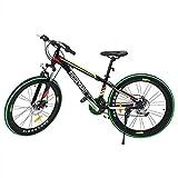 MuGuang 26 Pouces 7 Vitesses Vélo de Montagne MTB Mountain Bike Freins à Disque Unisexe pour Adulte (Noir + Vert)