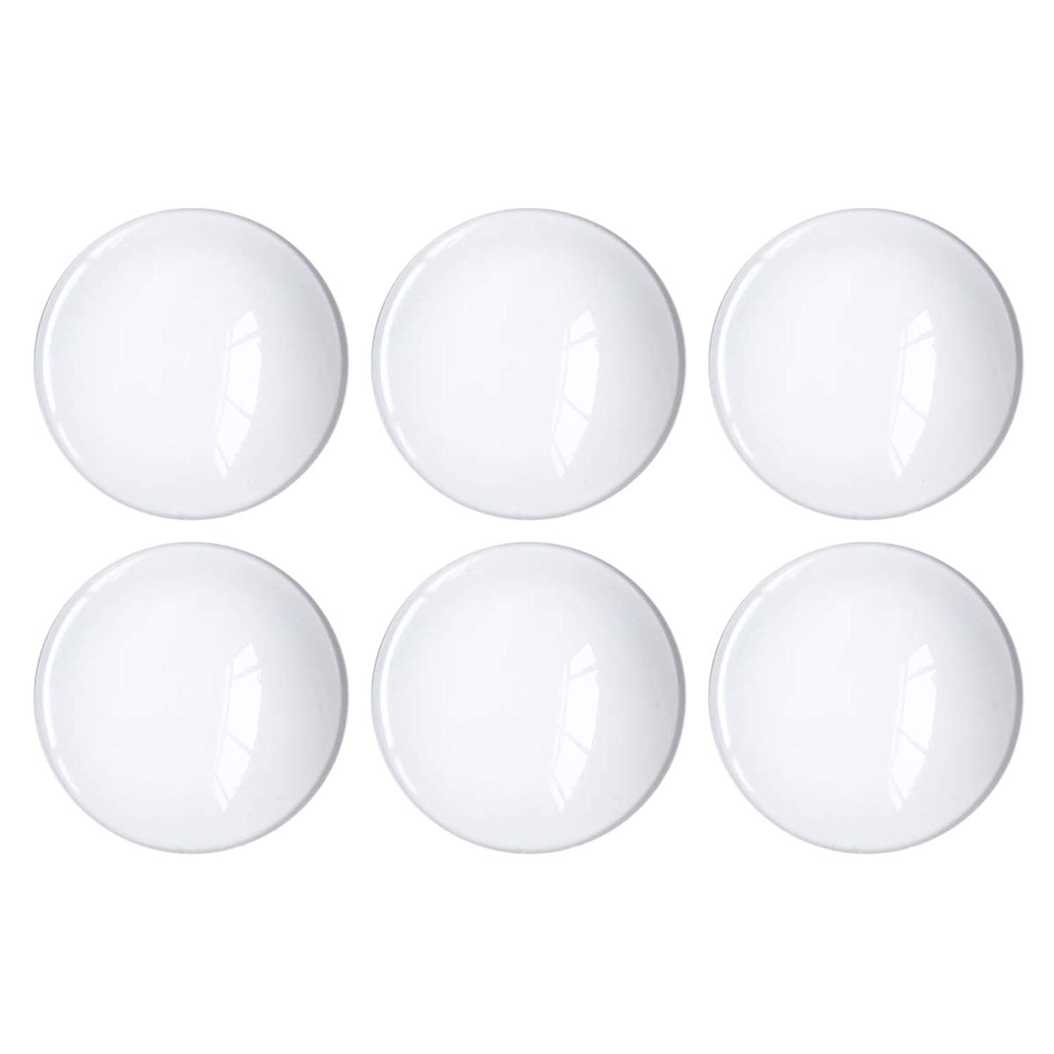 Glass Cabochon 50mm for Jewelry Making 10 PCS Round Dome Cabochons with Flat Backs Glass Dome Tiles Clear Cameo for Pendants Magnets and Crafts (10 PCS, 2 INCH)