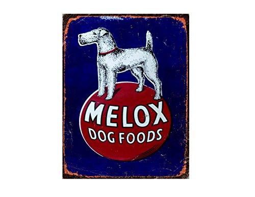 Ecool Melox Wandschild mit Hundefutter, Retro-Stil, Shabby Chic, Vintage-Stil, 280 mm x 200 mm