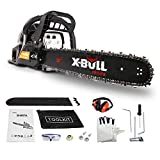 Best Gasoline Chainsaws - X-BULL 58cc 2-Cycle Full Crank Gas Chainsaw 20-Inch Review