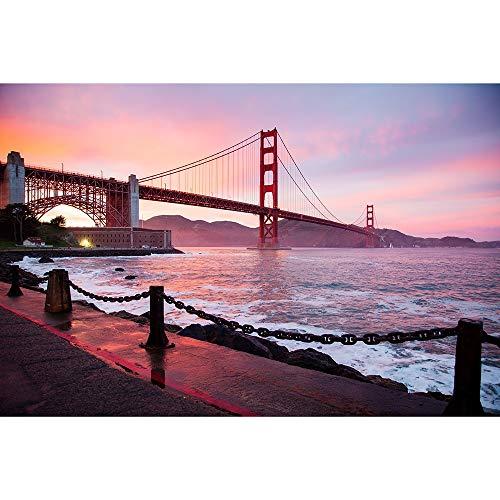 Madera Rompecabezas, Puente Golden Gate San Francisco Estados Unidos, 500/1000/1500/2000/3000/4000/5000/6000 Piezas, Juguetes For Niños De Educación 0628 (Size : 5000 Pieces)