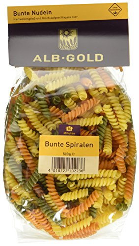 AlbGold Bunte Nudeln (Fusilli), 6er Pack (6 x 500 g Packung)
