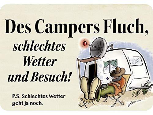 Blechwaren Fabrik Braunschweig Kulthänger des Campers Fluch KH047