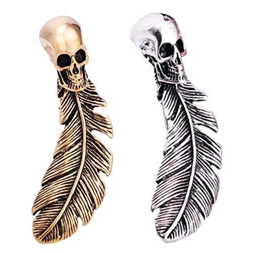 KESYOO 1 par Pin de Broche de Halloween Pin de Solapa Esqueleto...