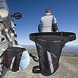 Chalkalon Motocross Racing Leg Bag Bolso de Cintura Oxford de Tela Ajustable Resistente al Desgaste de Gran Capacidad, Negro Benefit Robust Handsome