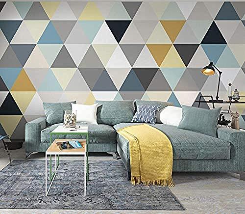 ZZXIAO Nordisches geometrisches Dreieck Einfaches modernes Wandbild Wohnzimmer Schlafzimmer Hintergrund Tap wandpapier fototapete 3d effekt tapete Wohnzimmer Schlafzimmer Hintergrundbild-200cm×140cm