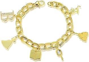 Couture Kingdom - Pulsera bañada en oro con diseño de princesa Disney
