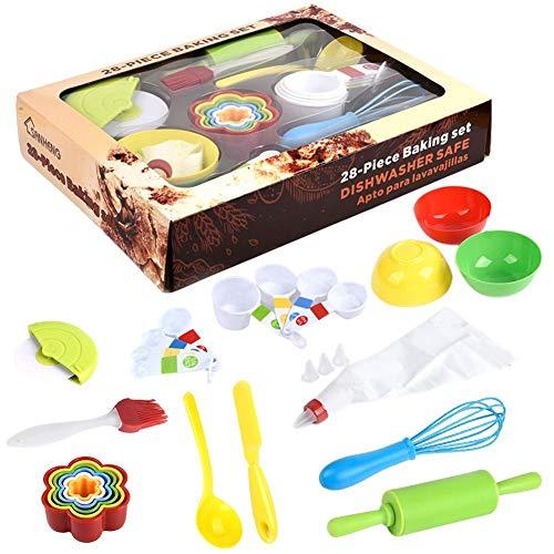 raspbery Backset mit Waffeleisen, Kinder-Backset, Kinder-Backset, Cupcake- und Keks-Backset aus gemischten Materialien für Kinderkoch Kostüm Rollenspiele & Praktisches Lernen