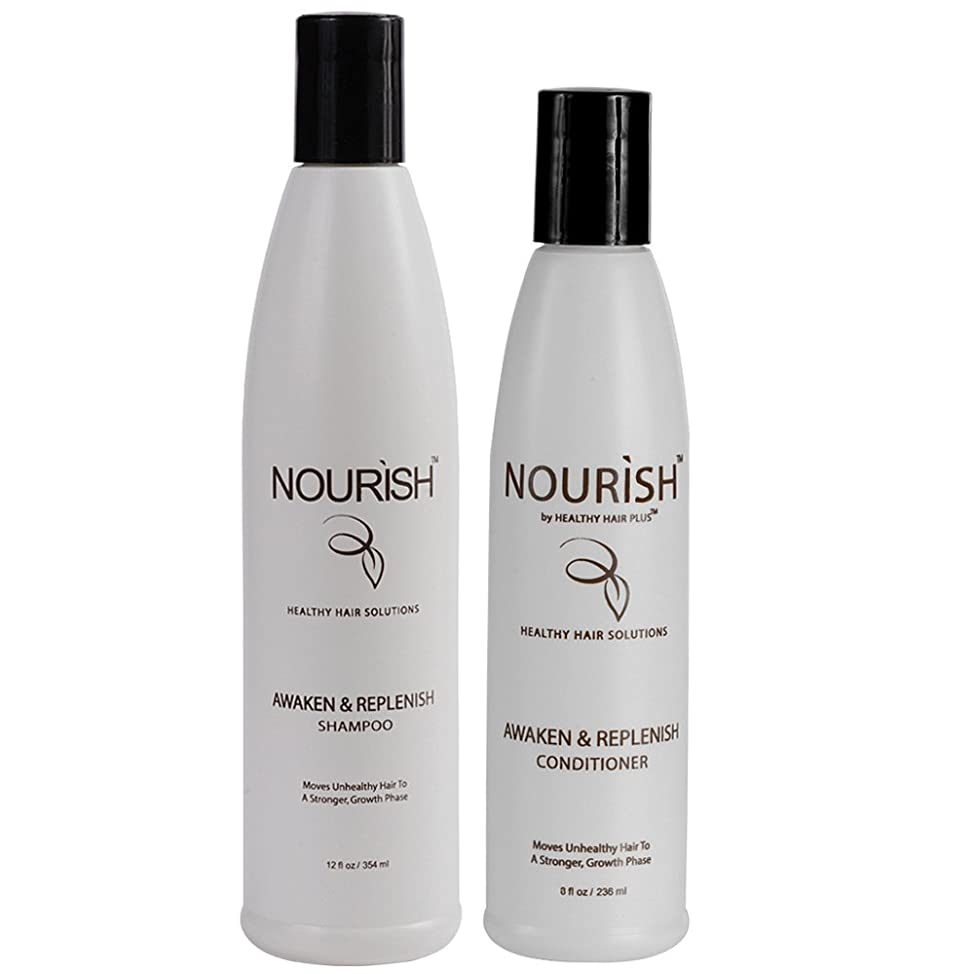 Nourish - Awaken And Replenish Combo – Hair Growth Shampoo & Conditioner for Thinning Hair Treatment