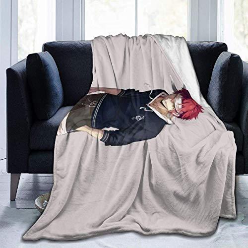 TUCBOA Manta de Soma de Food Wars, acogedora, Bonita, Novedad, Divertida, Suave, cómoda, para sofá de Coche, decoración del hogar, edredón de Cama, Manta de Franela Impresa en 3D,100x125cm